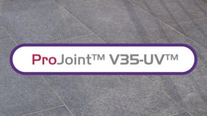 V35 paving and logo
